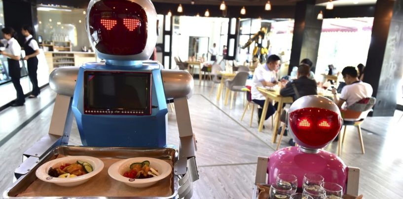 Robots Serve The Platter In China