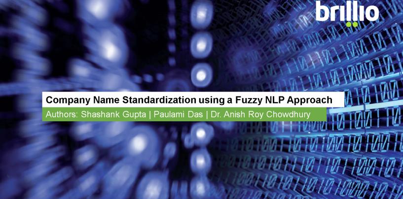 Company Name Standardization using a Fuzzy NLP Approach