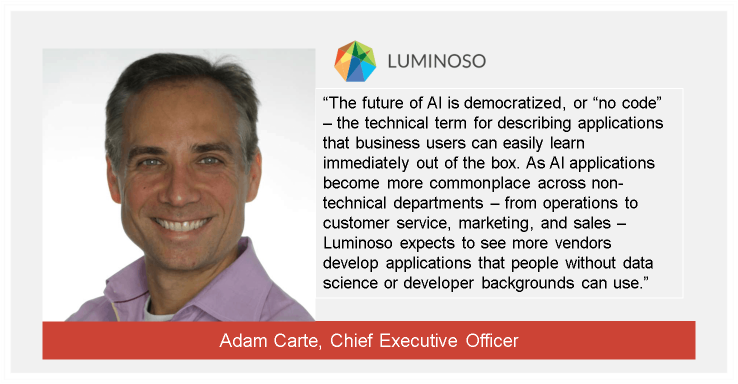 Adam Carte, CEO, Luminoso