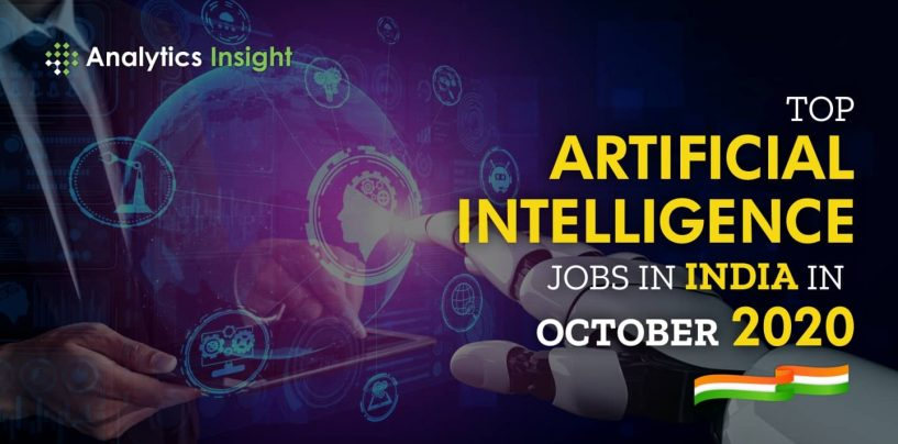 Top Artificial Intelligence Jobs in India in October 2020